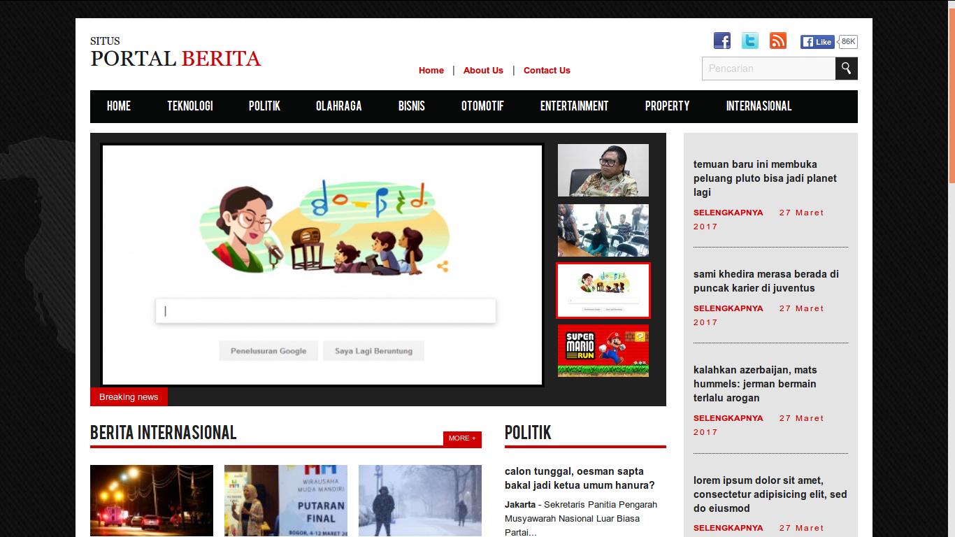 Jasa Web Berita Bantul 085695285999