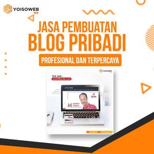 Jasa Pembuatan Blog Pribadi Profesional dan Terpercaya